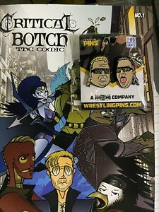 Pro Wrestling Crate Critical Botch Comic #1 AEW Wrestling And Nasty Boys pin