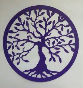1x Tree of Life Car Van Vinyl Sticker Decal Graphic Window Om Meditate Purple