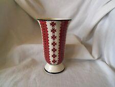 Ukrainian Ceramic Folk Needlework Pattern 8 inch Flower Bud Vase