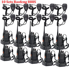 10Set Wireless Baofeng BF-888S UHF 400-470MHz 5W Handheld Walkie Talkie Radio GB