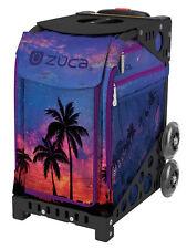 Zuca Bag Island Life Insert & Black Frame w/Non-Flashing Wheels - Free Cushion
