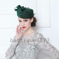AU Post Pillbox Hat  50s 60s Pin Up Races Fascinator Cap Headpiece Wedding Party