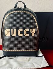Authentic Gucci Black & Gold Magnetismo Backpack 182451 Men's Women's