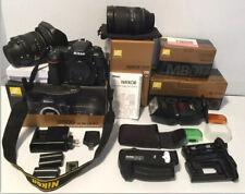 Huhe Lot Nikon D500 20.9 MP Digital SLR CAMERA,lenses,flash,battery +more