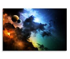 120x80cm Leinwandbild auf Keilrahmen Weltall Planeten Sterne Space Fantasy