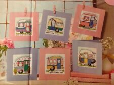 (E) Home From Home Caravane cartes cross stitch chart