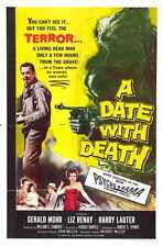 Date With Death Poster 01 A3 Box Canvas Print