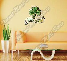 "Shamrock Clover Irish Ireland Luck Wall Sticker Room Interior Decor 22""X22"""