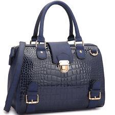 New Dasein Women Leather Handbag Satchel Briefcase Tote Bag Shoulder Bag  Purse