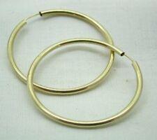 9 carat Gold Pair Of large Tubular Sleeper Style Earrings