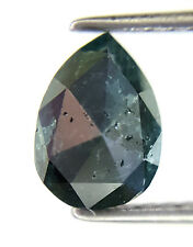 1.11TCW Blue Pear Rose cut Natural Diamond for Special Wedding Ring Gift Low Rat