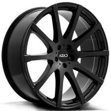 "(4) 22"" Azad Wheels AZ1970 Gloss Black Rims(B32)"