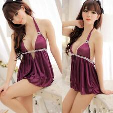 Sexy Lingerie Babydoll Dress Women Underwear Sleepwear+G-string Pyjamas