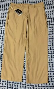 NIKE GOLF Women's Pants Dri Fit Khaki Tan Cropped Capri Tan Sz 14 Mint Condition