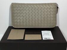 Authentic Bottega Veneta Zip Around Wallet in New Sand New in box w/tag