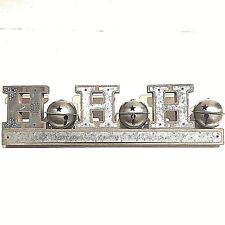 Christmas Ho Ho Ho Bell Wood Metal Sign Snowflakes Fireplace Decor Table decor
