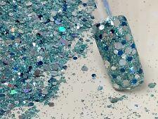 glitter mix acrylic gel nail art    FRESH