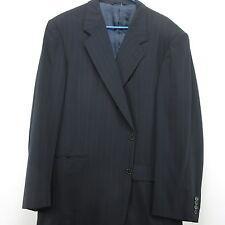 46L Hickey Freeman Mens Blue Pin Stripe Wool Blazer Sport Coat Wool Two Button