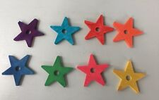 New Medium to Large Birds Wooden Stars Toys 8 Pieces Set
