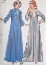 Vintage Style Pattern 2313 1970s Flared Kaftan 2 Styles Size Medium 12-14 Used