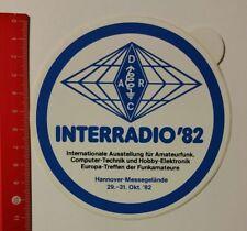 Aufkleber/Sticker: Interradio '82 Ausstellung für Amateurfunk (07041730)