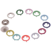 20pcs Multicolor Metal Sewing Buttons Prong Ring Press Studs Snap Faste yi