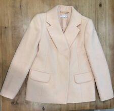 CARVEN Blush Light Pink Jacket Coat Structured Boxy Cashmere Wool 38-UK8-US4MINT