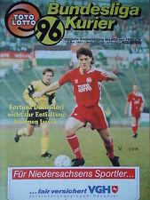 Programm 1992/93 Hannover 96 - Fortuna Düsseldorf