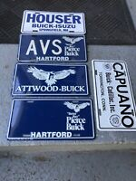 Vintage Cadillac Buick  Dealership Vanity Plates Lot Of 5