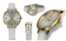 Tavan Belleville Collection White Leather Band Women's Watch NEW