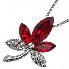 6.68 Ct Oval Cut Style Shape Red Garnet / Ruby CZ 18K White Gold Plated Pendant