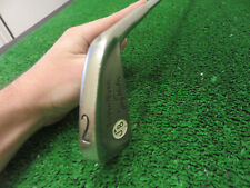 JERRY BARBER GOLDEN TOUCH 2 IRON GOLF CLUB ORIGINAL STEEL SHAFT & BANDS RH