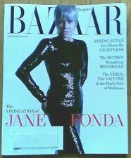 Harper's Bazaar Magazine April 2021 with JANE FONDA on cover BRAND NEW