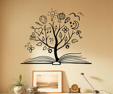 Book Tree Wall Decal Library School Vinyl Sticker Unique Home Art Decor 30(nse)