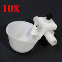 10pcs Pet Drinking Chicken Pigeon Bird Poultry Fowl Automatic Water Cup Feeder