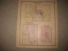 ANTIQUE COHOCTAH TOWNSHIP OAK GROVE DEER CREEK LIVINGSTON COUNTY MICHIGAN MAP NR