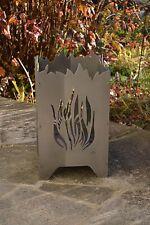 Feuerkorb Feuerschale Feuersäule mit Motiv Flammen - NEU Edelrost