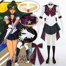 Cafiona Sailor Moon Meiou Setsuna Sailor Pluto SuperS Cosplay Costume Sexy Dress