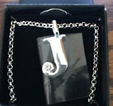 Necklace - J (New/Boxed) Avon Silver Plated Initial pendant