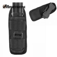 Ultrafire Flashlight Pouch Holster Belt Carry Case Holder with Rotatable Clip
