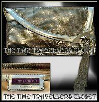 Jimmy Choo Silver Chain Mail Mesh Tassel Clutch Bag w/ Receipt Dustbag RRP £732