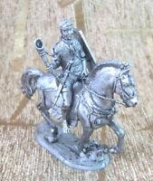 54 mm Tin Figurine Figure Toy Praetorian cavalry trumpeter horse Handmade