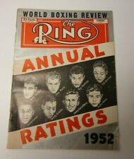 THE RING FEB 1953 ANNUAL RATINGS COVER BOXING MAGAZINE RARE COOL OK CONDITION