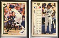 Stan Javier Signed 1991 Upper Deck #688 Card Los Angeles Dodgers Auto Autograph