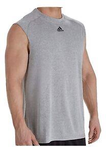 adidas Mens Climalite Sleeveless Tank T-Shirt Gym Shirt Relaxed Fit Tee