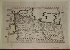 MOROCCO & ALGERIA 1535 PTOLEMY & FRIES UNUSUAL ANTIQUE ORIGINAL WOODCUT MAP