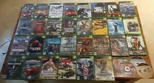 Lot 34 JEUX (30 complets + 4 seuls loose) - Microsoft Xbox 1ère génération - PAL