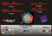 KIT 4 ADESIVI  sticker PER PINZE FRENO  ALFA ROMEO