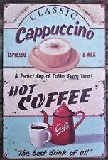 Coffee retro vintage poster metal tin sign cafe pub motorcycle garage kitchen