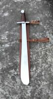 Vintage Battle Ready Medieval One Handed HMB Sword With Genuine Leather Scabbard